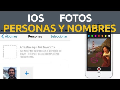 iOS Fotos cómo poner nombres a personas y organizar foto por nombre iPhone, iPad en español en 2021