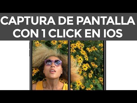 Cómo hacer una captura de pantalla en iPhone, iPad en 1 click con iOS en 2021