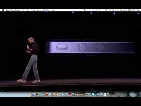 Steve Jobs launches IPhone 4 WWDC June 2010