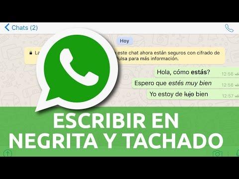 Cómo escribir negrita, cursiva, tachado en Whatsapp con iPhone iOS Android español en 2021
