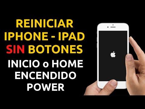 Cómo reiniciar un iPhone, iPad SIN botones Power, Inicio, Home un reinicio de iOS o hard reset